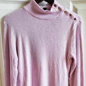 J. Crew button-shoulder turtleneck sweater